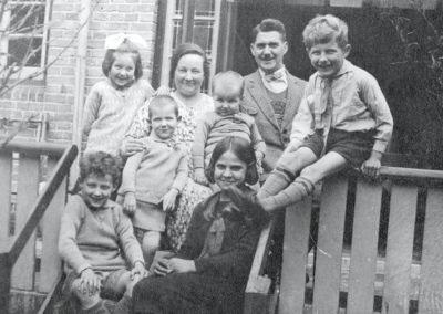 Het gezin Wolkers in Oegstgeest, 1934