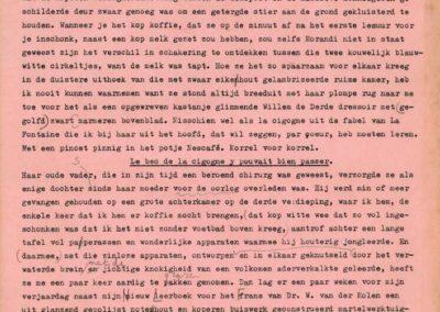 Typoscript Brandende liefde, 1981